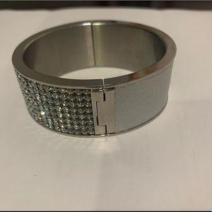 Swarovski Crystal Leather Bangle Cuff Bracelet
